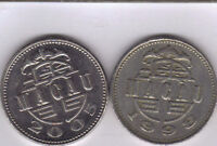 2 DIFFERENT 1 PATACA COINS FROM MACAU DATING 1998 & 2005