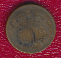 1867 TWO CENT PIECE INTERESTING 19TH CENTURY TYPE COIN SHIPS FREE