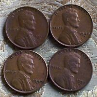 LOT OF FOUR LINCOLN CENT'S 1946-S,1948-S,1949-S, 1950-S  ITM 2