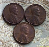 1948 P/D/S LINCOLN WHEAT CENT'S CIR. CONDITION  3 COIN'S  ITM5