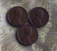 1948 P/D/S LINCOLN WHEAT CENT'S CIR. CONDITION  3 COIN'S  ITM4