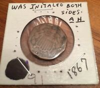 1867 2 CENT COIN 17-201