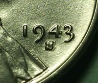 1943 S LINCOLN STEEL WHEAT CENT W27414A