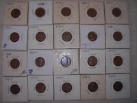 WHEAT CENT'S 1916S-1955S ALLMOST COMPLETE ''S'' MINT SET 1923S,1924S,1927S