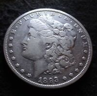 1893-O MORGAN SILVER DOLLAR - CHOICE FINE F DETAILS FROM THE NEW ORLEANS MINT