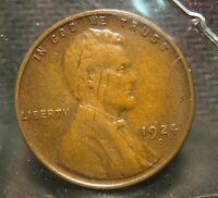1924-D LINCOLN WHEAT CENT - EXTRA FINE  DETAIL - SCRATCH ON OBV.