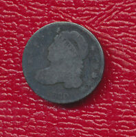 1830 CAPPED BUST SILVER DIME FANTASTIC TONING SHIPS FREE