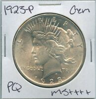 1923-P PEACE DOLLAR UNCIRCULATED US MINT COIN PQ GEM SILVER COIN UNC MS