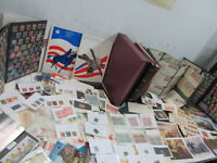 NYSTAMPS G THOUSANDS MINT USED OLD US STAMP & PLATE BLOCK COLLECTION ALBUM BOX