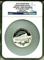 2014 $30 CANADA GRAND TRUNK PACIFIC RAILWAY EARLY RELEASE NGC PF70 ULTRA CAMEO