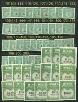 GENUINE SCOTT RE108/203 MINT NGAI NH SET OF 56 WINE STAMPS DEALER CLOSEOUT