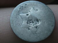 1853 THREE 3 CENT SILVER TRIME
