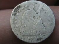 1854 P SEATED LIBERTY HALF DIME  WITH ARROWS LARGE DATE