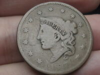 1837 MATRON HEAD MODIFIED LARGE CENT PENNY
