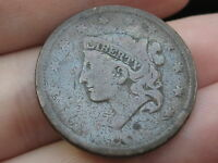 1838 MATRON HEAD LARGE CENT PENNY OLD TYPE COIN