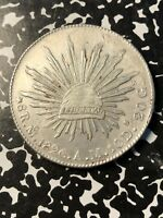 1896 MO AM MEXICO 8 REALES LOTJM238 LARGE SILVER COIN
