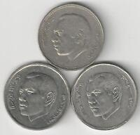 3 DIFFERENT 1 DIRHAM COINS FROM MOROCCO   1987 2002 & 2012  3 TYPES