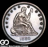 1880 SEATED LIBERTY QUARTER PROOF TOUGH GEM PF   ONLY 1355 P