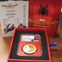 2017 COOK ISLAND $200 SPIDERMAN 1OZ GOLD 1ST DAY ISSUE NGC P