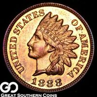 1888 INDIAN HEAD PENNY CAMEO PROOF GORGEOUS SUPERB GEM PF