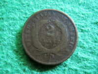 1869 TWO CENT PIECE -  DATE - NOT PRETTY - UGLY  - FREE U S SHIPPING