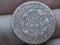 1809-1836 CAPPED BUST HALF CENT-  TYPE COIN, METAL DETECTOR FIND?