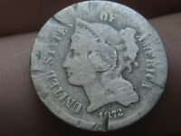 1872 THREE 3 CENT NICKEL- OLD TYPE COIN