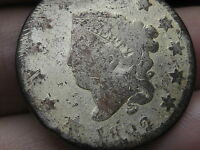 1822 MATRON HEAD LARGE CENT PENNY, WHITE METAL?