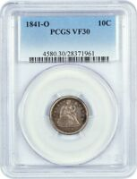 1841-O 10C PCGS VF30 - SEATED LIBERTY DIME