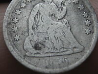 1856 P SEATED LIBERTY HALF DIME  VG/FINE DETAILS