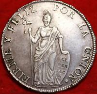 1831 PERU 8 REALES SILVER FOREIGN COIN