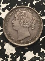1862 NEW BRUNSWICK 20 CENTS LOT1605 SILVER  NICE   TYPE