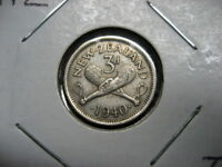 .COIN NEW ZEALAND 1940 3 PENCE VF