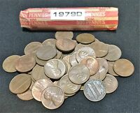 ONE ROLL 50 COINS 1979 D  LINCOLN MEMORIAL CENTS CIRCULATED CONDITION