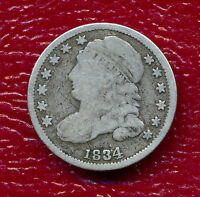 1834 CAPPED BUST SILVER DIME CIRCULATED -   SHIPS FREE