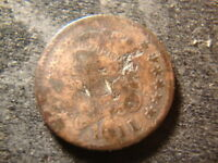 1811  DATED CLASSIC HEAD HALF CENT DECENT COIN GXG