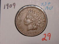 1909 INDIAN HEAD CENT CHOICE EXTRA FINE  AU   ATTRACTIVE COIN