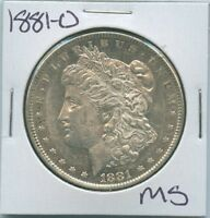 1881-O MORGAN DOLLAR UNCIRCULATED US MINT SILVER COIN UNC MS