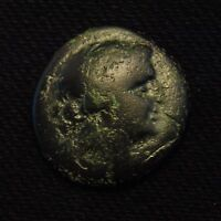 21 THRACE MESSEMBRIA FEMALE HEAD RV ATHENA ALKIDEMOS 2ND 3RD CENTURY BC 6.17 GR