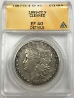 1889 CC MORGAN DOLLAR ANACS EXTRA FINE 40 DETAILS CLEANED [681]