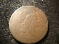 1795 NO POLE VF DETAILS LIBERTY CAP HALF CENT ANA
