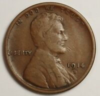 1914-D LINCOLN HEAD CENT.  V.F.  126763