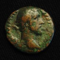AS EMPEROR ANTONINUS PIUS RV VICTORY W/ SHIELD BRI TAN 10.99 GR 25 6MM AD 143