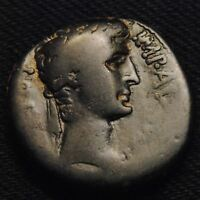 AE26 ANTIOCH SYRIA AUGUSTUS CAESAR RV LARGE SC IN WREATH 18.65 GRAMS