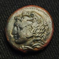 24 SYRACUSE PYRRHUS THE GREAT HERAKLES RV YPA KOIN ATHENA 12.14 GR 278 6 BC
