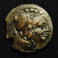 ROMAN REPUBLIC POST REFORM  TRIENS MINERVA RV ROMA SHIP PROW 2ND CENT BC 5.87GR