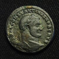 CONSTANTINE THE GREAT AS CSAR   RV GENIO POPVLI ROMANI 28 9MM 12.56 GR HERACLEA