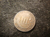 1851-O DATED THREE CENT SILVER  LOOKING III LINES SJC