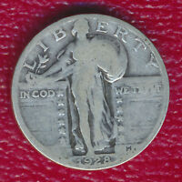1928 STANDING LIBERTY SILVER QUARTER GOOD COIN SHIPS FREE