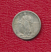 1917 STANDING LIBERTY SILVER QUARTER TYPE I   CIRCULATED FREE SHIP